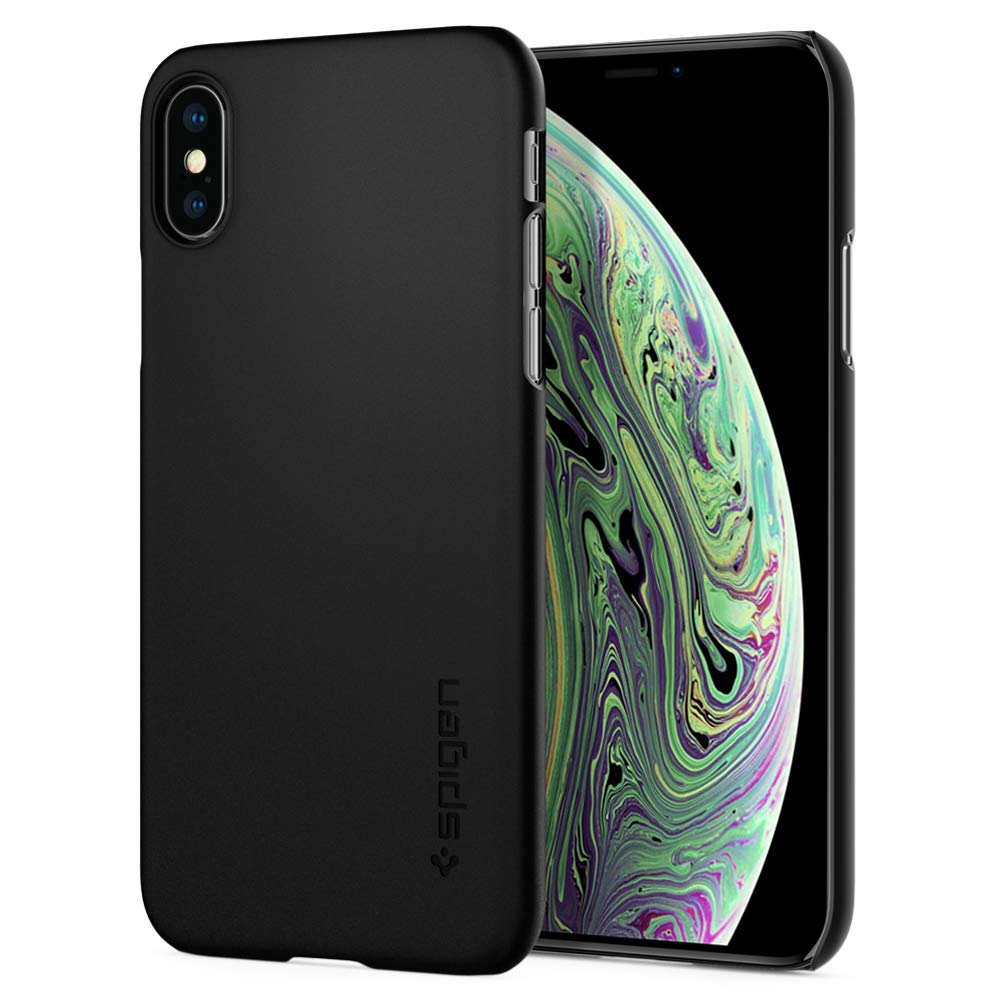 Funda Spigen iPhone X/xs [matte Black] Thin Fit