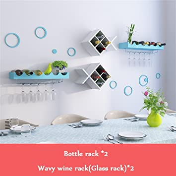 Botella de vino tipo pecera para montaje en pared 2 | Estante de vidrio | Soporte ...