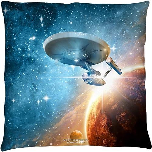 2Bhip Star Trek Sci-Fi TV Show CBS Series Final Frontier Throw Pillow