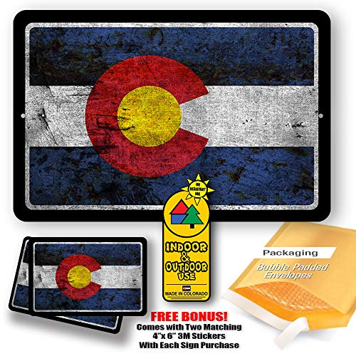 Colorado State Flag Man Cave Metal Decor Tin Sign Indoor and Outdoor use 8