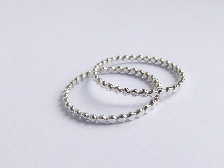 Stacking Ring,Modern Boho ring,Textured Drop Ringy Hammered Flat Bead Moden Design Thumb Ring Set Sterling Drop Bead Thumb Ring