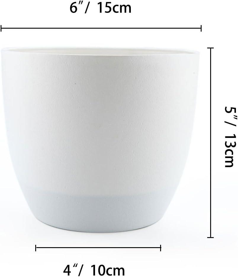 Selbstbew/ässerung Wasserspeicher Pflanzgef/ä/ß /Übertopf f/ür Innen und Au/ßenbereich T4U 15cm Selbstw/ässernder Blumentopf mit Wasseranzeiger Schwarz 4er-Set