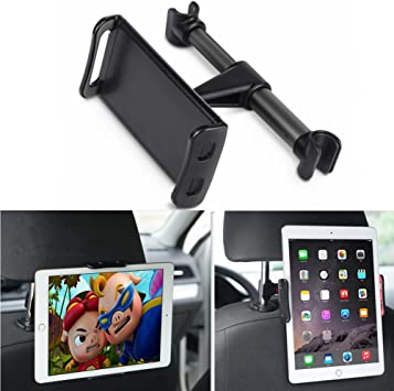 10.5 Red Car Tablet Headrest Mount 4.7~13 inch Smartphones and Tablets Accessories Air Mini 2 3 4 Tab Lamicall Tablet Holder : Back seat Stand Cradle Compatible with New iPad 2018 Pro 9.7