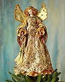 Golden Angel Christmas Tree Topper, GOLD