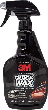 Amazon.com: Cera para auto 3M 39034 Quick Wax de alto brillo ...