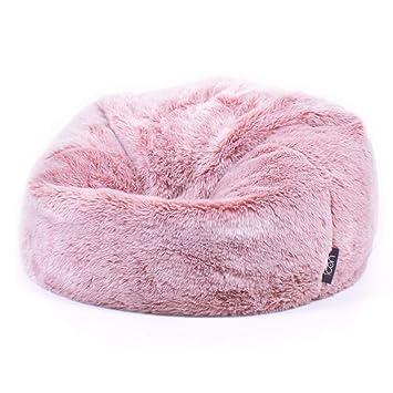 1267935f0c icon Large Childrens Classic Faux Fur Bean Bags - Luxury Furry Kids Bean Bag  Chair