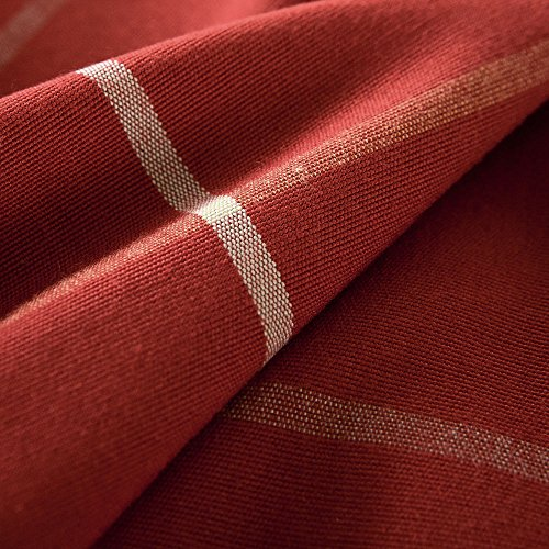 R.LANG Heavy Weight Fabric Tablecloth Oval 60 x 84-inch Spillproof Jacquard Tablecloth Red (Jacquard Tablecloth 60x84)