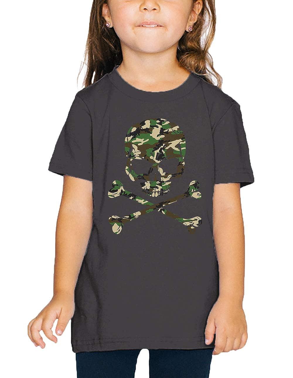 SpiritForged Apparel Camo Skull and Crossbones Toddler T-Shirt