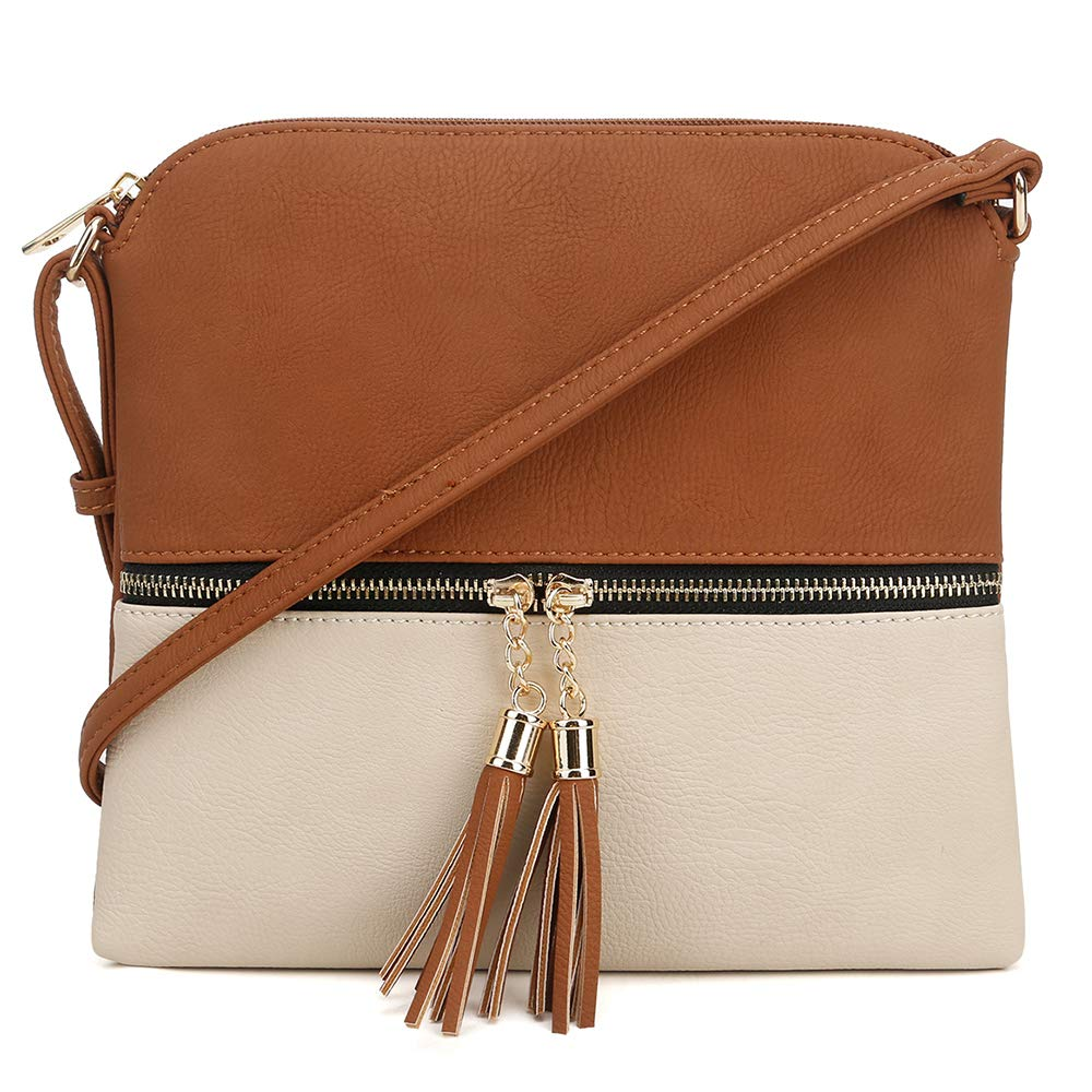 276ecf59864e MALIBU SKYE Anna Color Block Tassel Crossbody Bag: Handbags: Amazon.com
