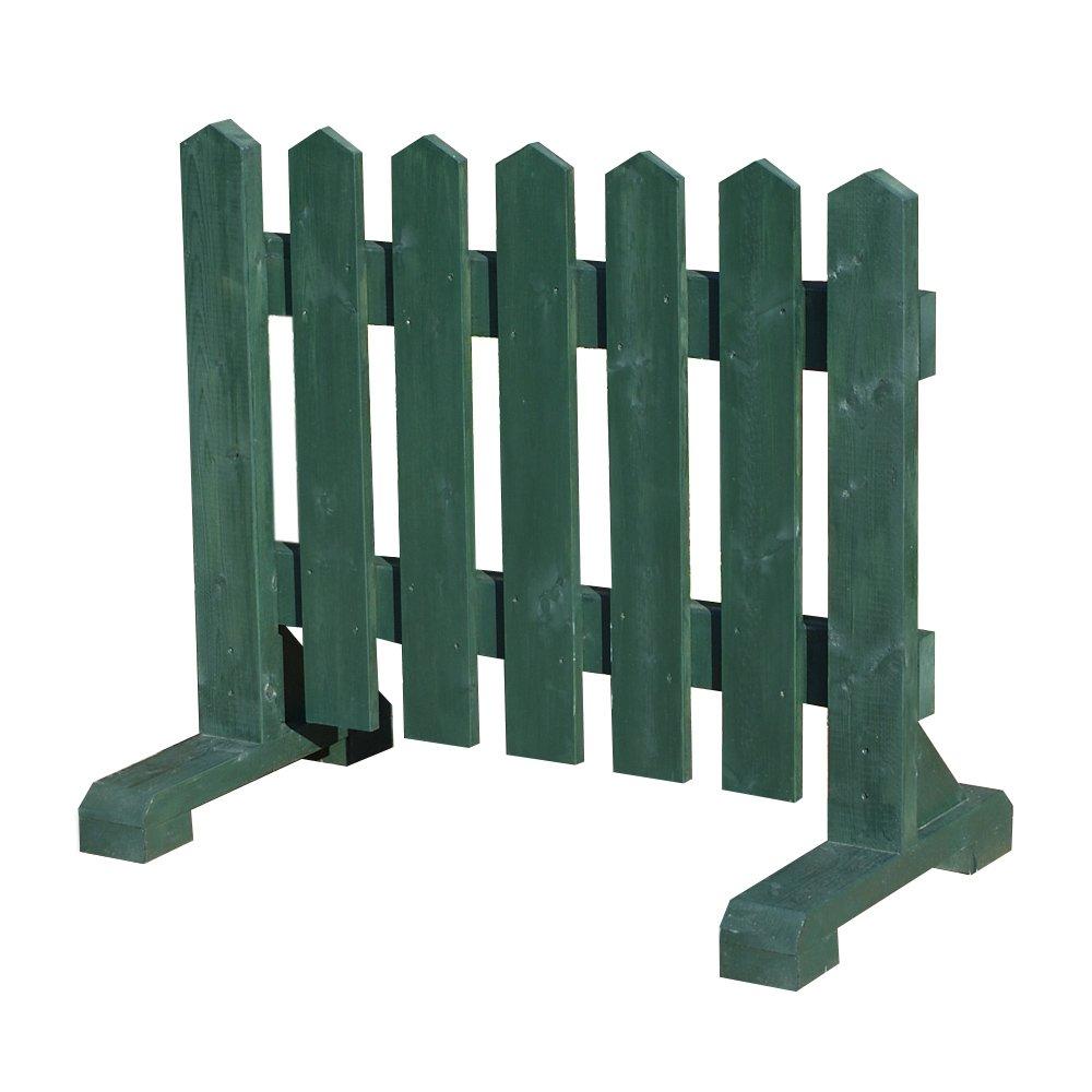 木製 ピケットフェンス -グリーン- 【受注製作品】 (幅120cm) 犬 目隠し 屋外 飛び出し防止 柵 ガード さく 木製フェンス ゲート B0107ABXYE 17060 幅120cm  幅120cm