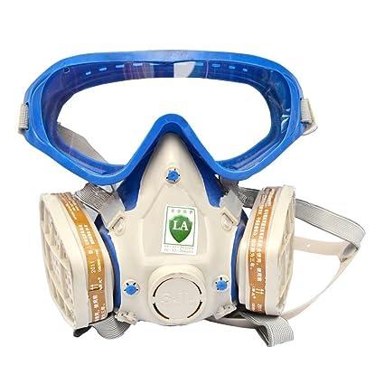 Babimax Máscara Seguridad con Gafas Respirador de Cara Completa de Industrial Chemical Mascarilla para Pintura Aerosol