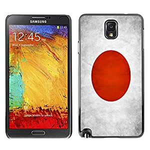 Omega Case Strong & Slim Polycarbonate Cover - Samsung Galaxy Note 3 III ( Japan Grunge Flag )