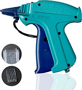The Original ASKOR Tagging Gun - Price Tag Gun for Clothing with 2000 Tagging Attachments, 6 Standard Tagging Gun Needles & Fabric Bag - Best for Boutique, Consignment & Garage Sale