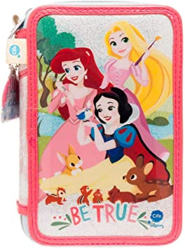 Disney Princesas Princesas Dsiney Estuche Triple con Kit Completo de papelería (Cife Spain 41408): Amazon.es: Juguetes y juegos
