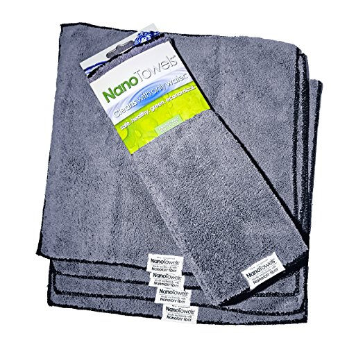 Life Miracle Nano Towels - Amazing Eco Fabric That Cleans Virtually Any Surface With Only Water. No More Paper Towels Or Toxic Chemicals. (Grey) by Life Miracle (Image #4)