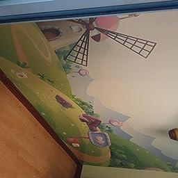 Fotomural Vinilo para Pared Gato en Globo | Fotomural para Paredes | Mural | Vinilo Decorativo | Varias Medidas 350 x 250 cm | Decoración Habitaciones | Infantiles: Amazon.es: Hogar