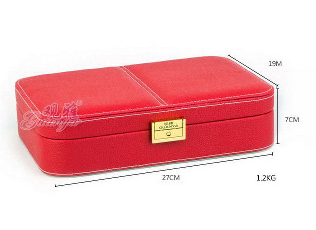 COMVIP Women PU Leather Portable Travel Jewelry Case Organizer Box Rose by COMVIP (Image #4)