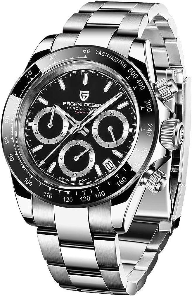 PAGANI Safety and trust DESIGN Men's Quartz Watch Chro Sports Movement VK63 Max 58% OFF Japan