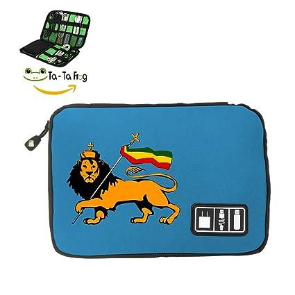 6fe218fc02af Amazon.com : Zihoco Stylish Data line Storage Bag, Rasta Flag ...