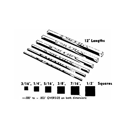Steel Key Stock Standard Tolerance 12 Length 1//2 Width Pack of 1 1//4 Thickness