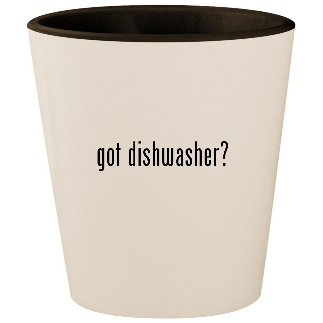 got dishwasher? - White Outer & Black Inner Ceramic 1.5oz Shot Glass