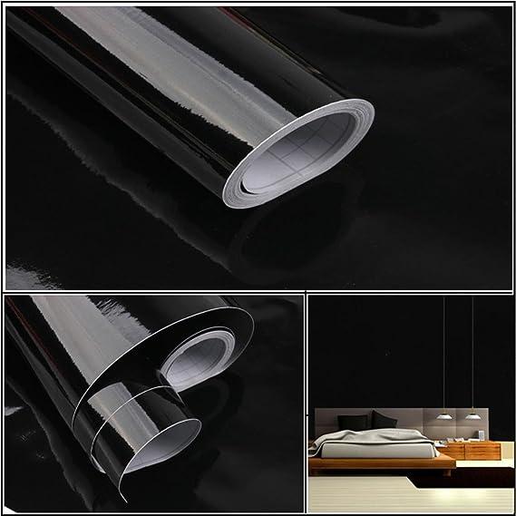 OHQ Pegatina De Pared Adhesivos Pintura Autoadhesiva De PVC Brillante 13 Tipo Color Brillante Muebles Restaurados Pegatinas ExtraíBle Papel Tapiz DecoracióN Del Hogar (Negro): Amazon.es: Bricolaje y herramientas