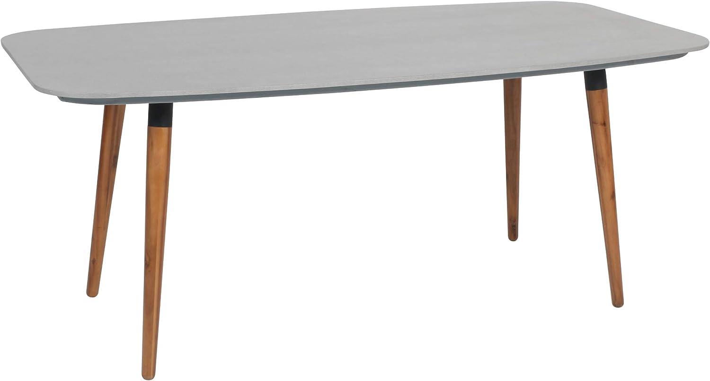 Greemotion Gartentisch Bern-Esstisch grau & braun für Garten, Terrasse &  Balkon rechteckig, Tischbeine Akazie massiv-Tisch mit Tischplatte in Beton