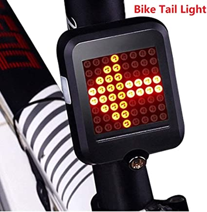 64 LED USB Automatic Indicator Bicycle Rear Taillight Bike Warning Signal Light