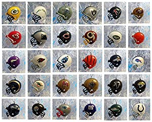 Amazon.com: NFL FOOTBALL ORNAMENT SET of 32 MINI HELMET