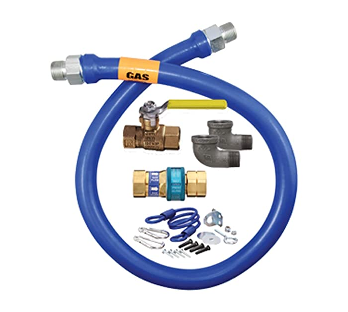 """Dormont 1650KIT48 48"""" x 0.5"""" Gas Connector Kit with 2 Elbows"""