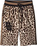 Dolce & Gabbana Kids Boy's Bermudas (Big Kids) Brown Print 12