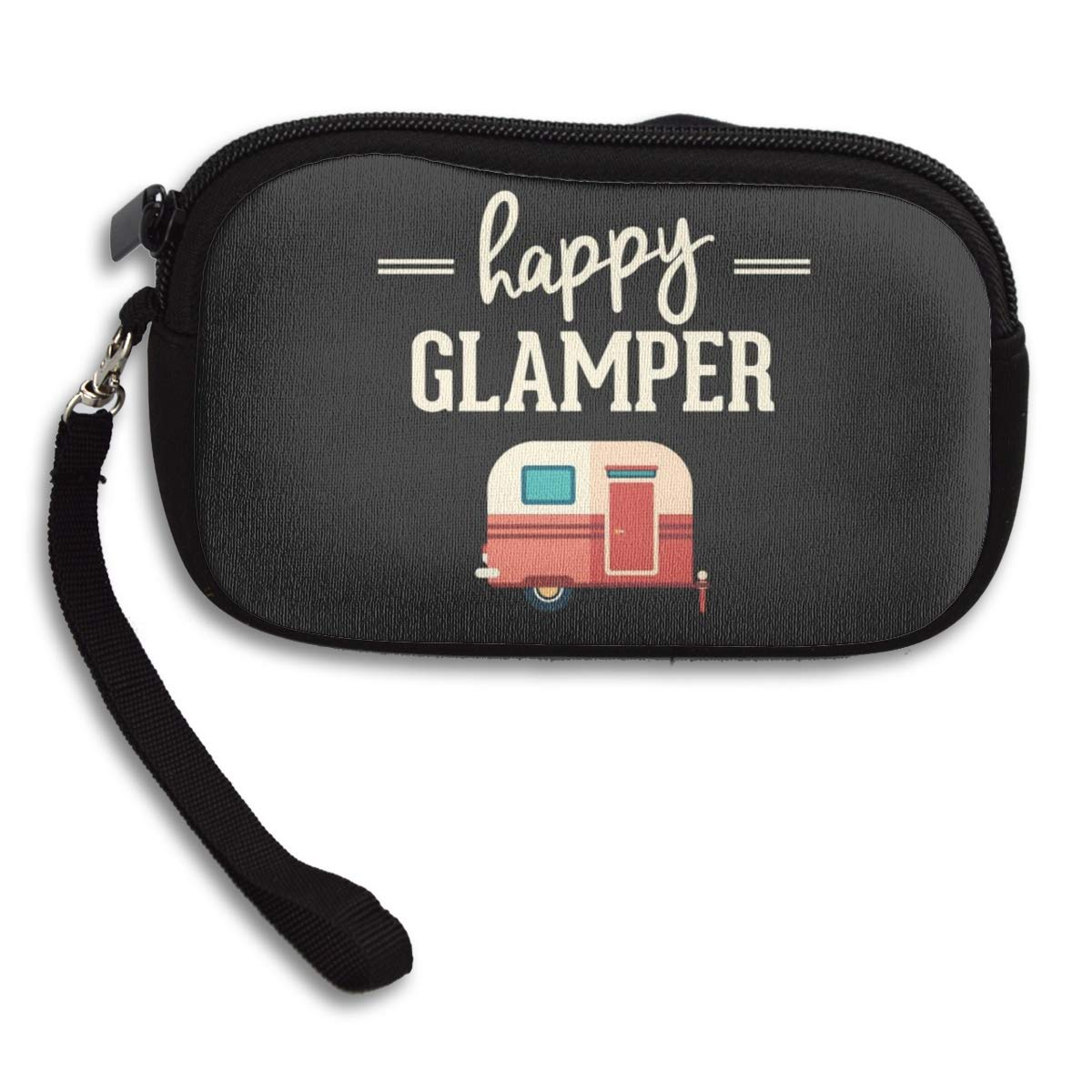 Coin Purse Happy Glamper Coin Pouch With Zipper,Make Up Bag,Wallet Bag Change Pouch Key Holder