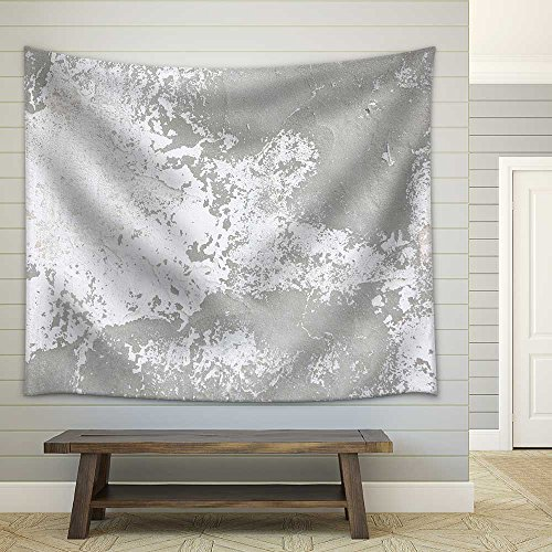 Bright Gray Grunge Background Old Wall Texture Fabric Wall Tapestry
