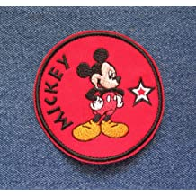 Mickey Mouse Disney Inspired Super Star Iron On Sew On Disney Embroidered Patch Collectible