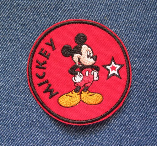 Mickey Mouse Cartoon Inspired Super Star Iron on Sew on Embroidered Patch Collectible