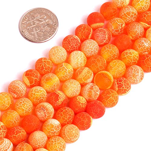 or Jewelry Making Gemstone Semi Precious 8mm Round Matte Frosted 15