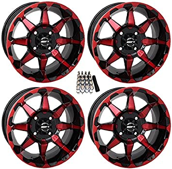Amazon sti hd6 utv wheelsrims redblack 14 polaris rzr 1000 sti hd6 utv wheelsrims redblack 14quot polaris rzr 1000 xp sciox Gallery