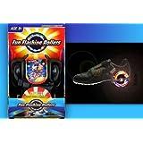 HQ-Kitezone Funrollers - Ruedas para los zapatos (peso máximo: 90 kg, con luces), color negro