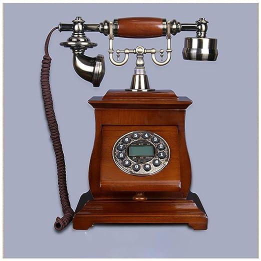 SMC Hogar Antiguo Europeo Madera Maciza Vintage Antiguo Teléfono ...