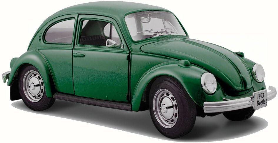 1973 Volkswagen Beetle >> Volkswagen 1973 Beetle Green Maisto 31926 1 24 Scale Diecast Model Toy Car