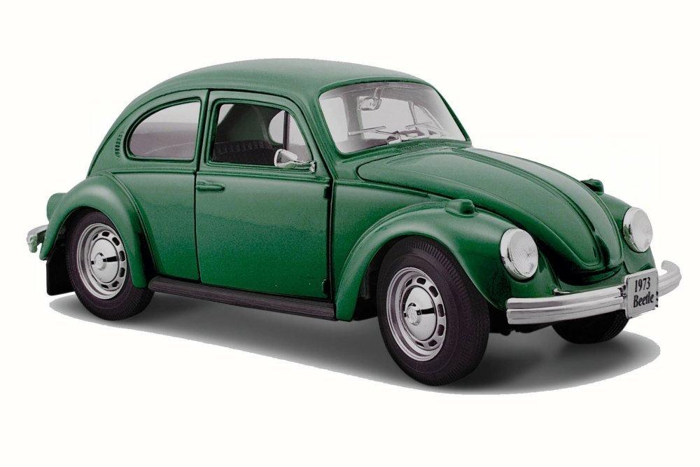 Volkswagen 1973 Beetle, Green - Maisto 31926 - 1/24 Scale Diecast Model Toy Car