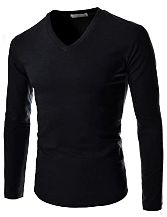 TheLees Mens Casual Slim Fit Colorful Long Sleeve Tshirts | Amazon.com