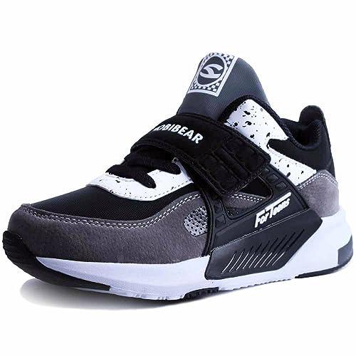 41712e8bab1 Zapatillas De Correr para Chico Zapatos De Deporte Niño y Niña Calzado  Infantil Transpirable,Niños Zapatos De Interior, Velcro Trainers Ninos  Ligeras ...