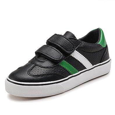 Qianliuk Kids Boys Casual Schuhe Atmungsaktive Velcro Trainerschule Kindermode Sneakers bj3rahcv