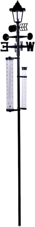 IdeaWorks All-In-One Solar Weather Station w/ Light, Rain Gauge - 60 ''