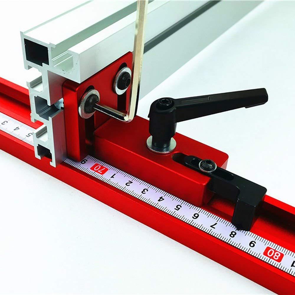 Laecabv T-Slot Mitre T-Track Conector de riel deslizante herramienta de carpinter/ía Carril de inglete Herramientas de bricolaje