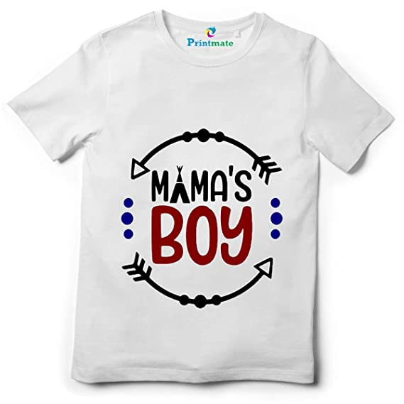 Printmate Boys And Girls Mamas Boy Kids Gifting Cotton Round Neck Unisex Half Sleeve T Shirt Dress Amazon In Clothing Accessories