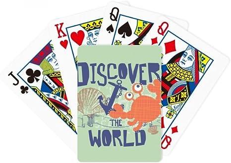 Descubrir mundo cangrejo marina Organismo Poker juego de cartas de mesa Juego de mesa regalo: Amazon.es: Deportes y aire libre