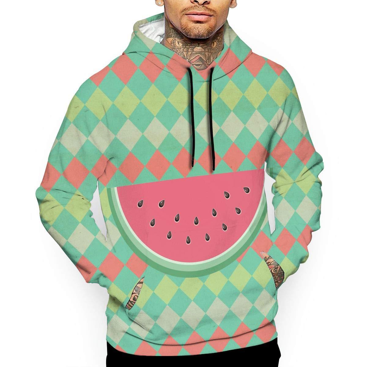 Women Men Funny Watermelon Hoodie 3D Print Fruit Casual Sweatshirt Pullover