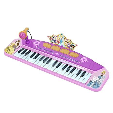 CLAUDIO REIG Princesas Disney órgano electrónico 58x28 Teclado Color Rosa 5285.0